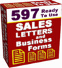 597 Sales Letters And Business Forms With Resale Rights