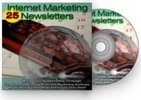 Thumbnail 25 Internet Marketing  Newsletters With Master Resell Rights