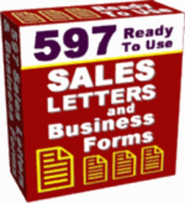 Product picture 597 Sales Letters And Business Forms With Resale Rights