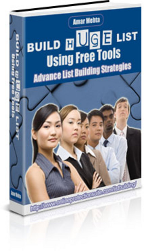 Product picture Build Huge List Using Free Tools With Master Resale Rights