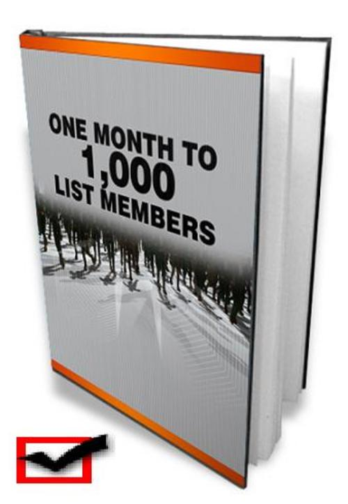 Product picture 1 Month To 1000 List Members With Master Resell Rights